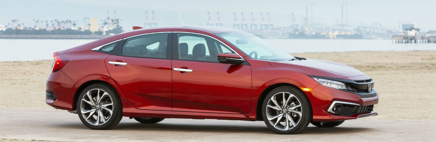 A right profile of the 2021 Honda Civic Sedan.