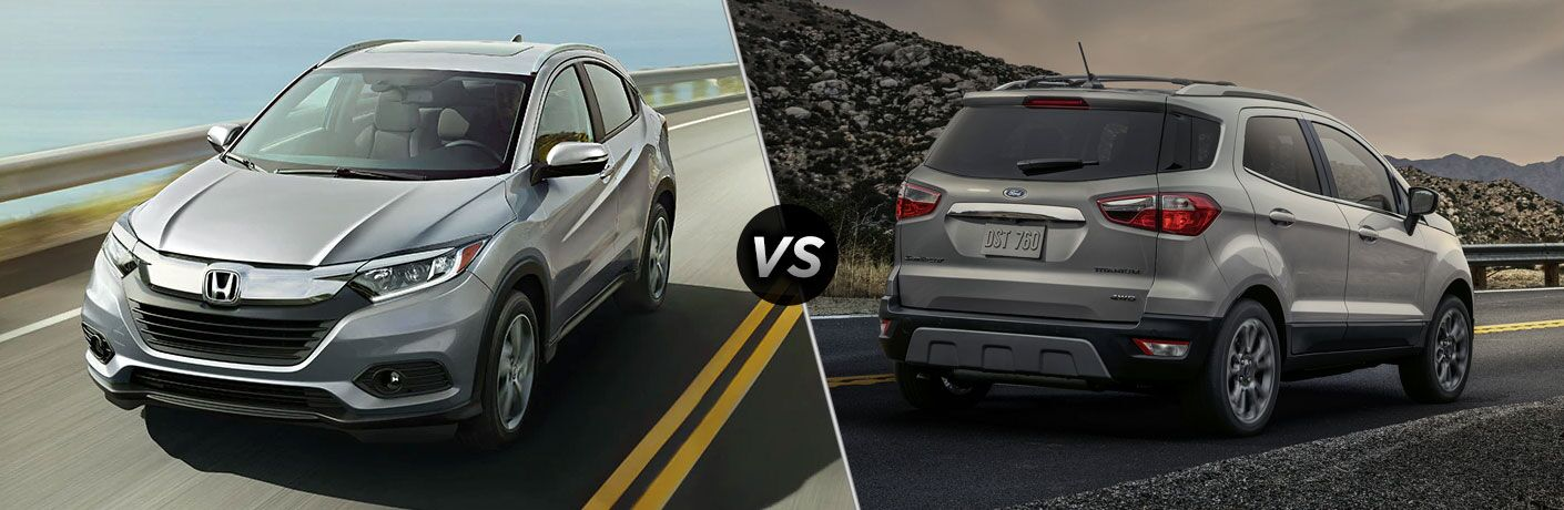 A side-by-side comparison of the 2021 Honda HR-V vs. 2021 Ford EcoSport.