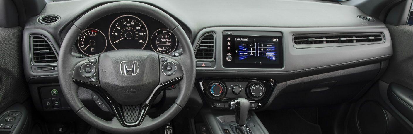 A photo of the dashboard in the 2021 Honda HR-V.
