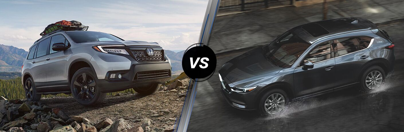 A side-by-side comparison between the 2021 Honda Passport vs. 2021 Mazda CX-5.