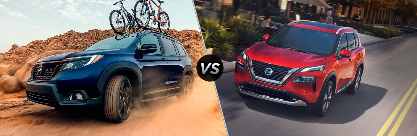 A side-by-side comparison of the 2021 Honda Passport vs. 2021 Nissan Rogue.