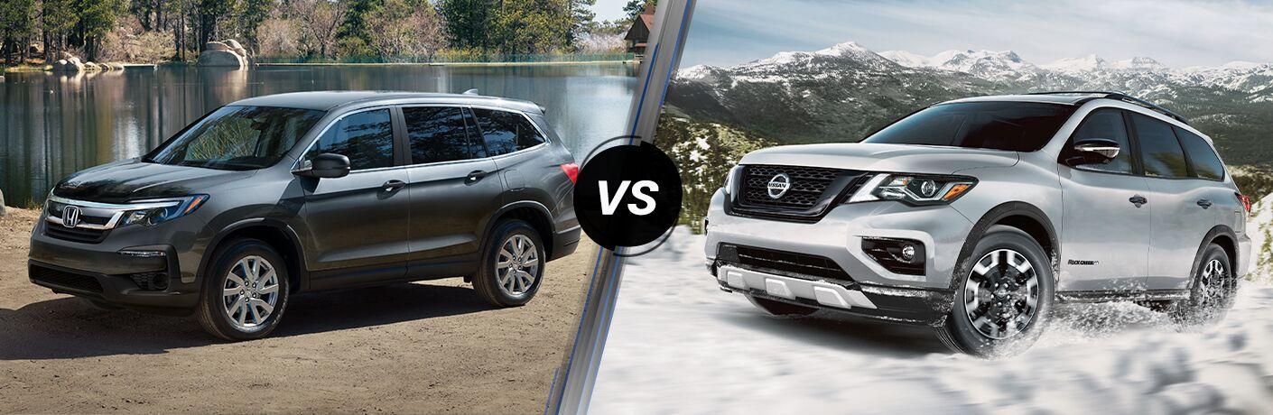 A side-by-side comparison of the 2021 Honda Pilot vs. 2021 Nissan Pathfinder.