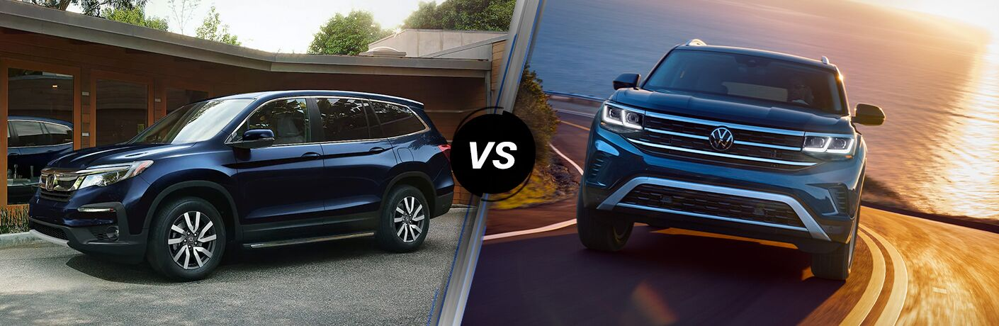 A side-by-side comparison of the 2021 Honda Pilot vs. 2021 Volkswagen Atlas.