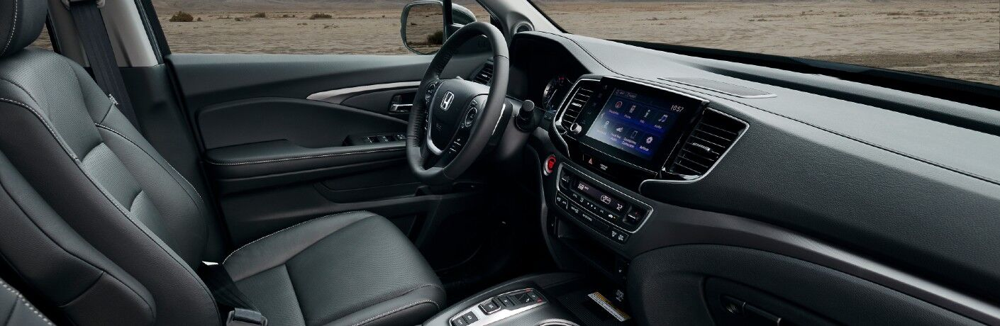 A photo of the dashboard in the 2021 Honda Ridgeline.