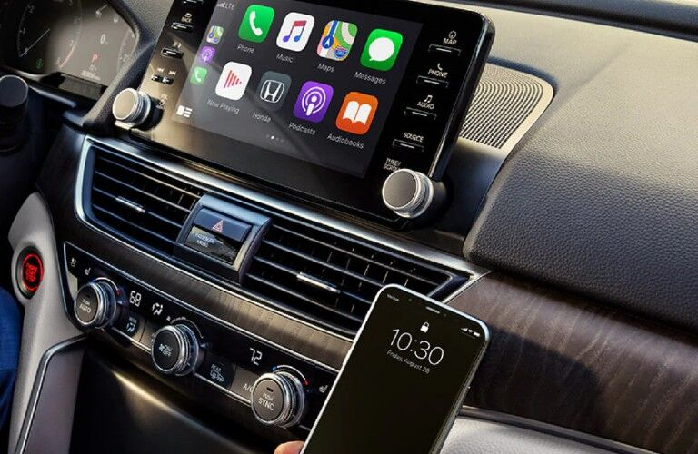 A photo of the infotainment system used in the 2021 Honda Accord.