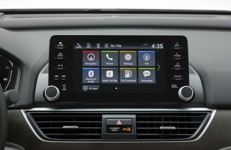 A photo of the touchscreen interface used by the 2020 Honda Accord.