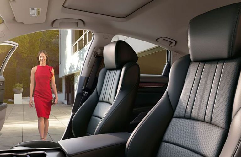A photo of the front seats in the 2021 Honda Accord.