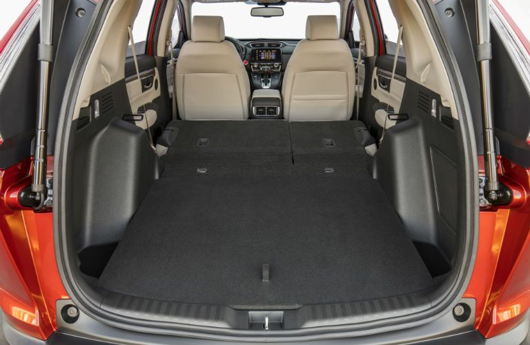 An interior photo showing the max cargo space configuration in the 2019 Honda CR-V.