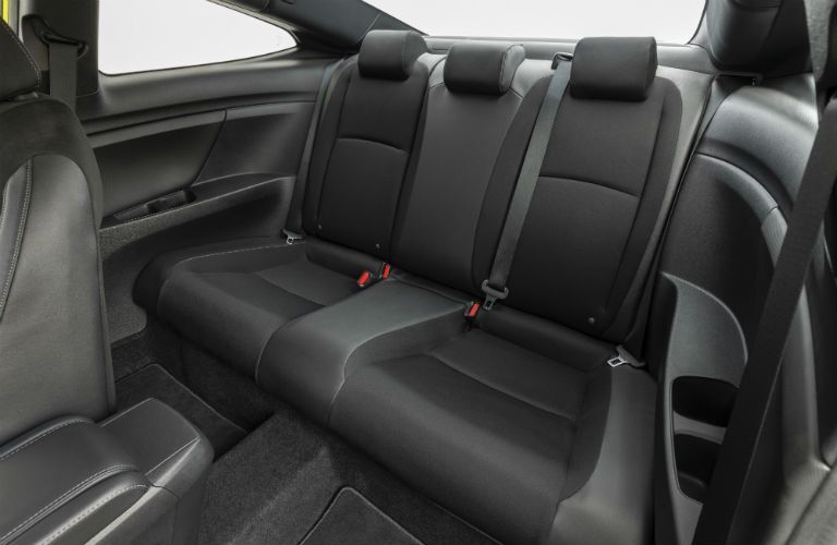 A photo of the rear seats in the 2019 Honda Civic Coupe.