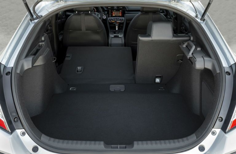 A photo of a cargo configuration in the back of the 2020 Civic Hatchback.