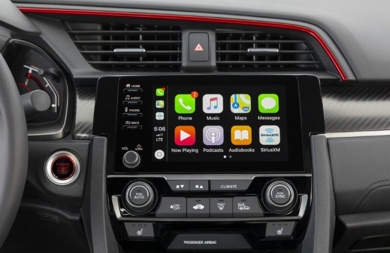 A photo of the touchscreen interface in the 2020 Honda Civic Si.