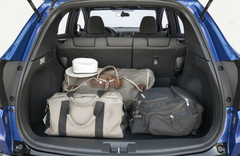A photo of cargo in the back of the 2020 Honda HR-V.