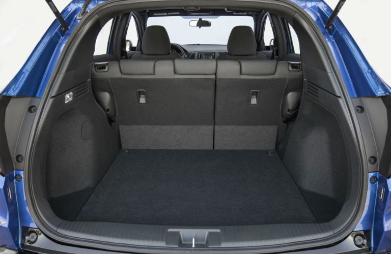 A photo showing how much cargo space is available in the 2019 HR-V with its seats up.