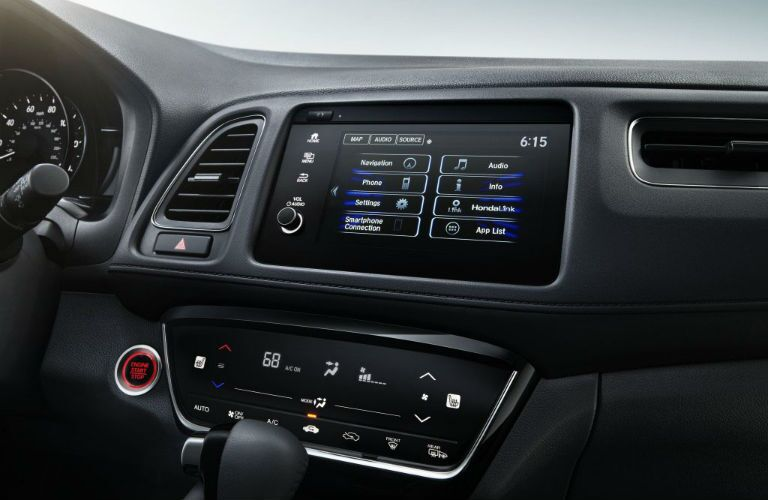 A photo of the infotainment system used in the 2020 Honda HR-V.
