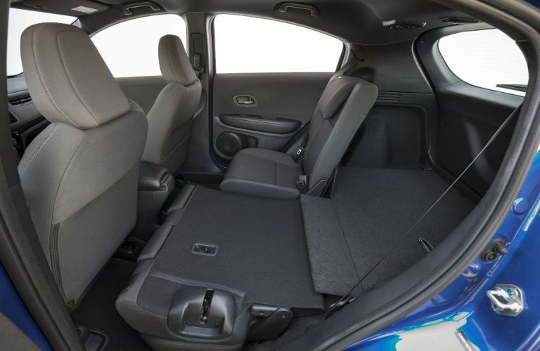 A photo of the rear seats folded down in the 2021 Honda HR-V.