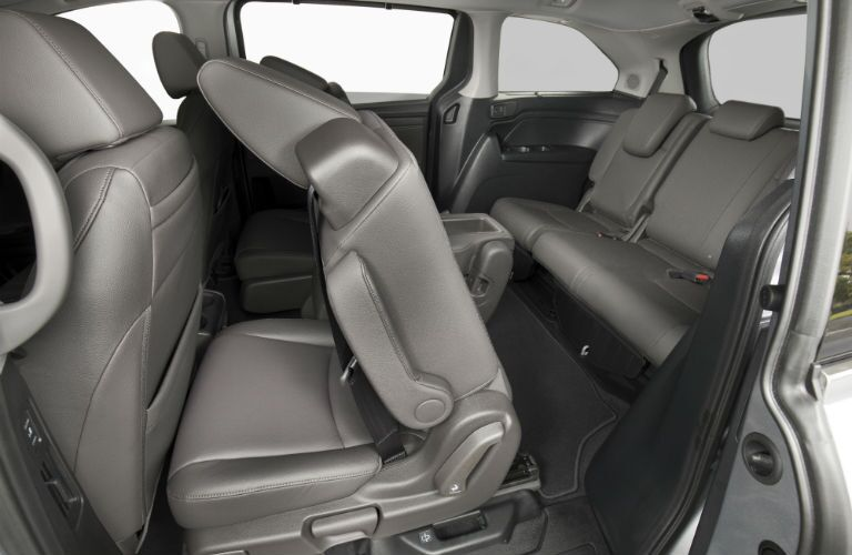 A photo of the second and third rows of seats in the 2020 Honda Odyssey.