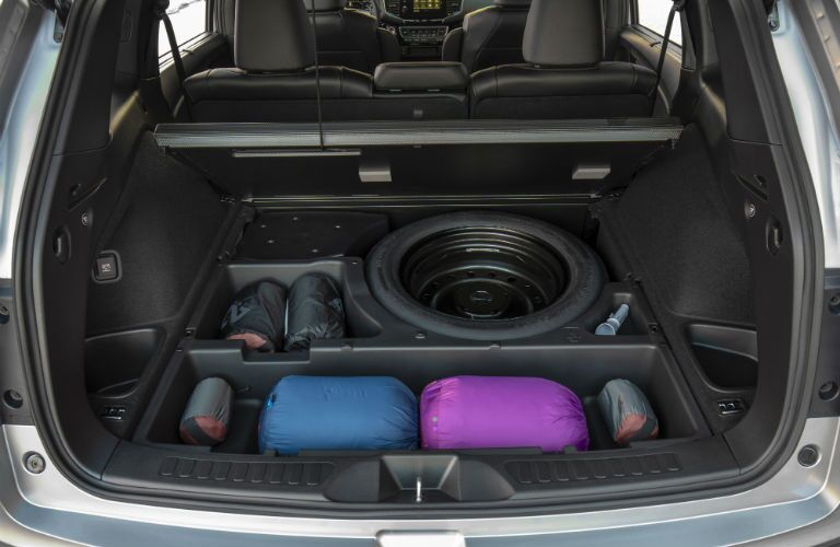 A photo of the under floor storage in the 2019 Honda Passport.
