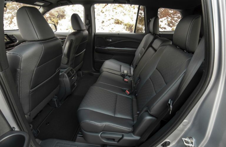 A photo of the rear seats in the 2021 Honda Passport.