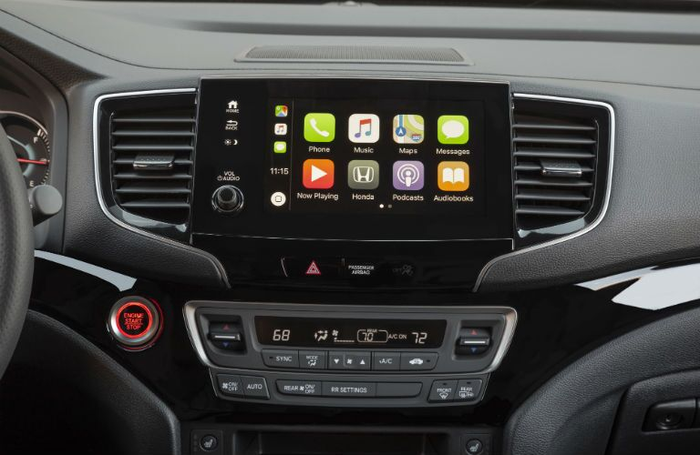 A photo of the touchscreen in the 2020 Honda Passport.