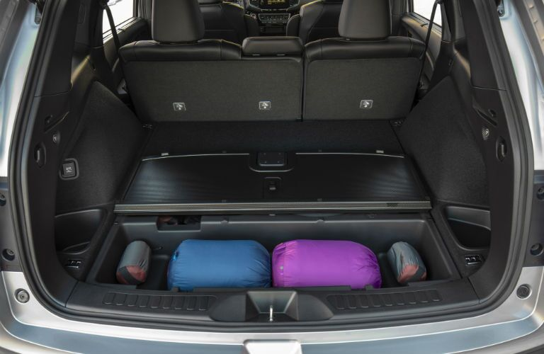 A photo of the under floor storage in the 2020 Honda Passport.