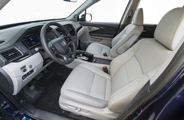 A photo of the front seats in the 2021 Honda Pilot.