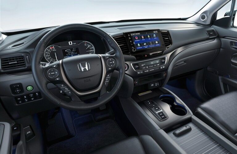 A photo of the dashboard in the 2021 Honda Rideline.