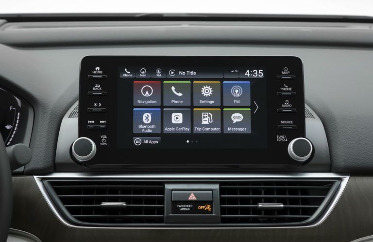 A photo of the touchscreen in the 2020 Honda Accord.