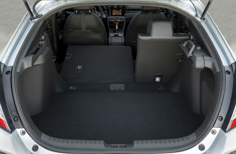 A photo of the rear cargo area in the 2020 Honda Civic Hatchback.