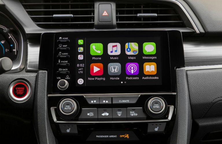 A photo of the touchscreen equipped in the 2021 Honda Civic Sedan.