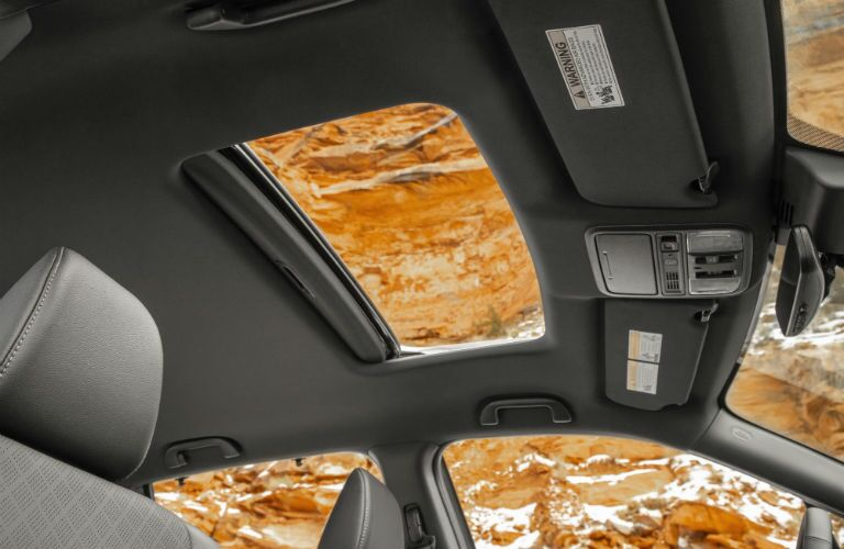 A photo of the sunroof equipped in some versions of the 2019 Passport.