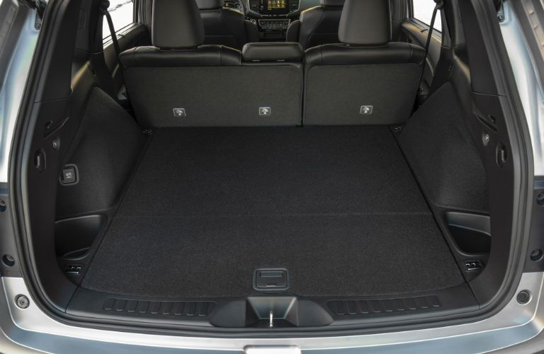 A photo of the cargo space in the 2021 Honda Passport.
