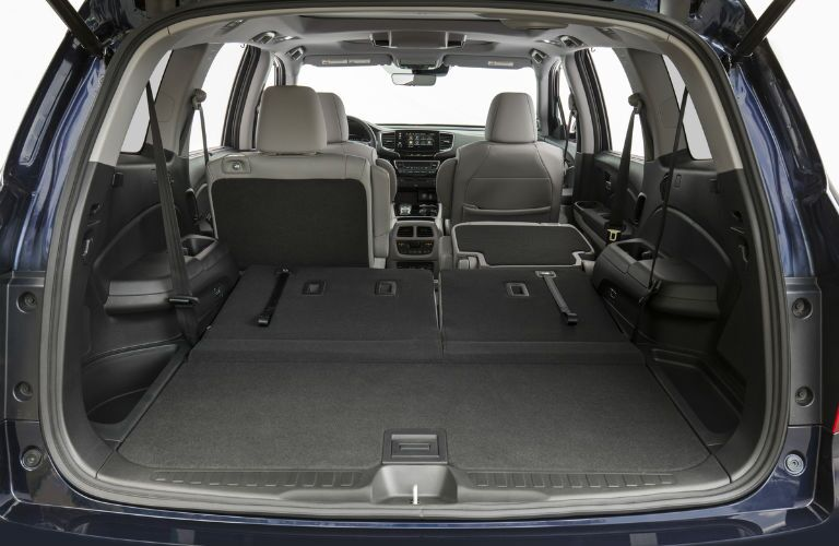 An interior photo of one of the cargo configurations in the 2020 Honda Pilot.