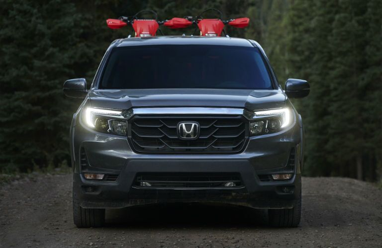 A head-on photo of the 2021 Honda Ridgeline.