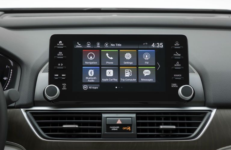 A photo of the touchscreen in the 2019 Honda Accord.