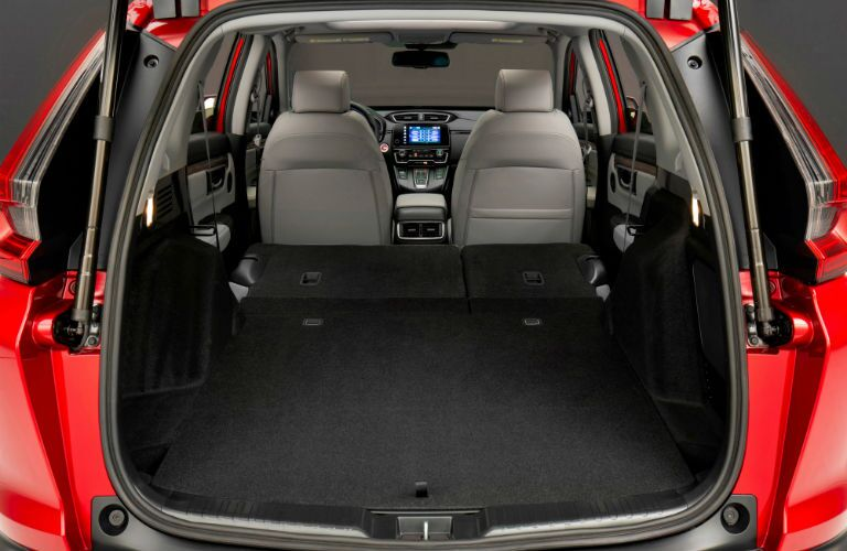 A photo of the cargo area in the 2020 Honda CR-V Hybrid.