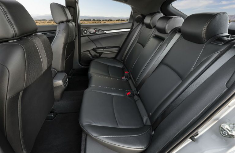 A photo of the rear seats in the 2020 Honda Civic Hatchback.