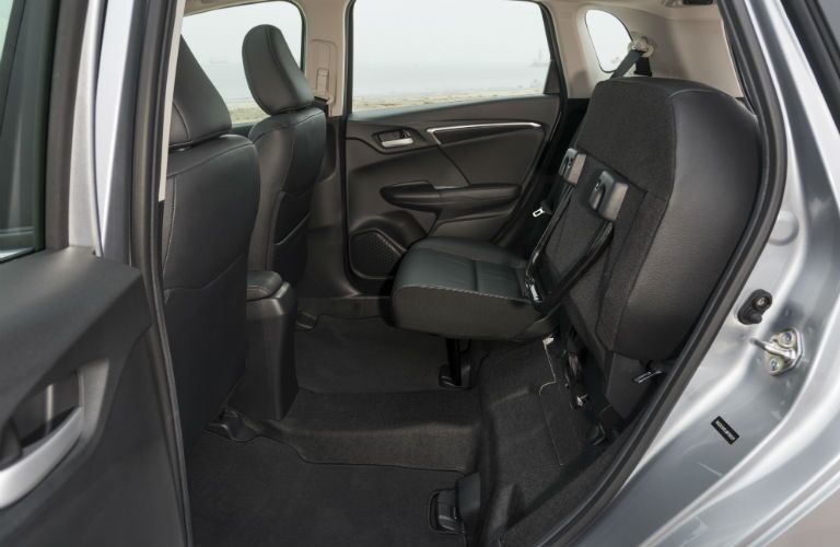 A photo of the fear seat in the 2020 Honda Fit folded up.