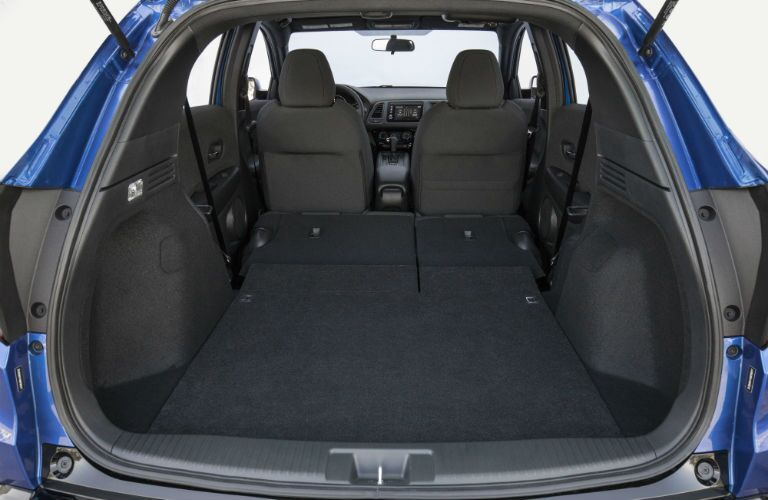 A photo of the maximum cargo volume configuration in the 2020 Honda HR-V.