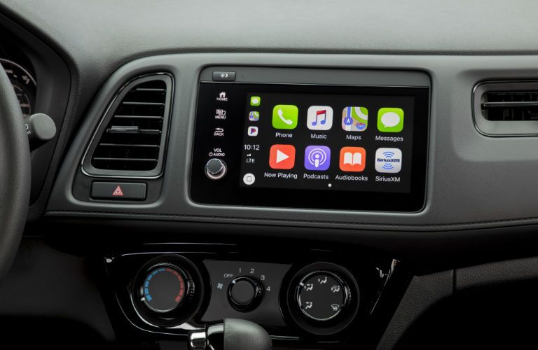 A photo of the touchscreen in the 2021 Honda HR-V.