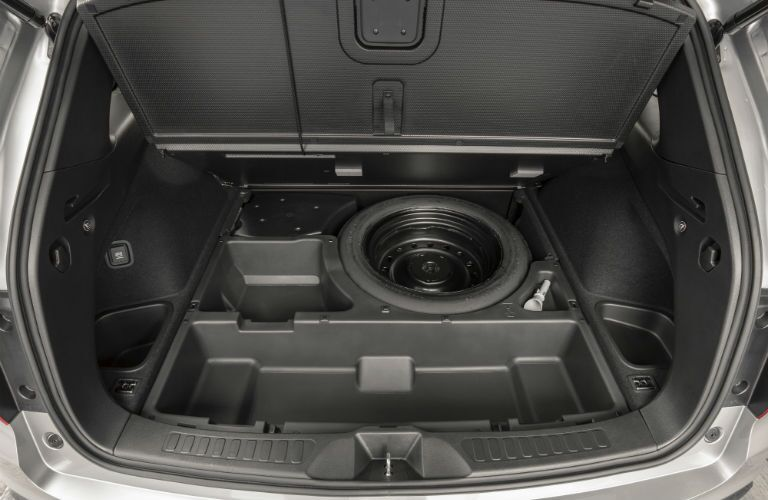 A photo of the under-floor storage compartment in the 2021 Honda Passport.
