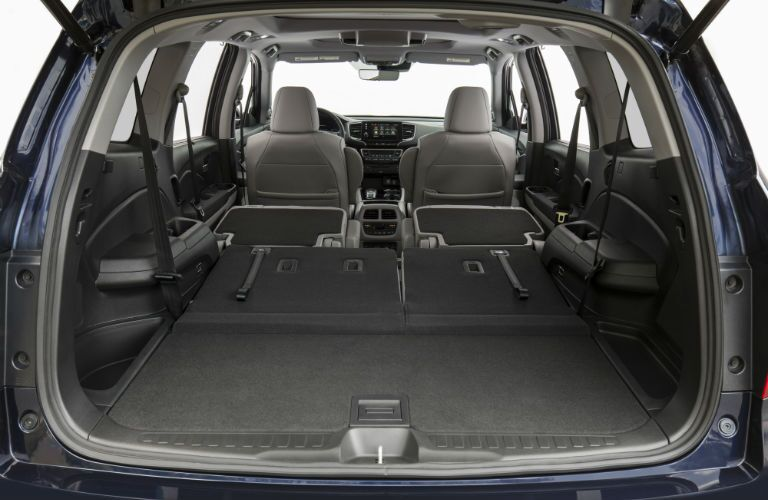 A photo of the cargo area in the 2021 Honda Pilot.