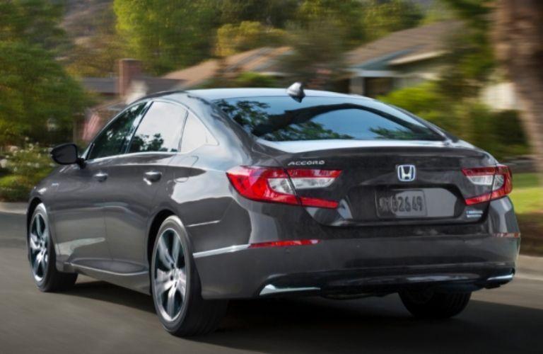 Rear view of the 2022 Honda Accord Hybrid