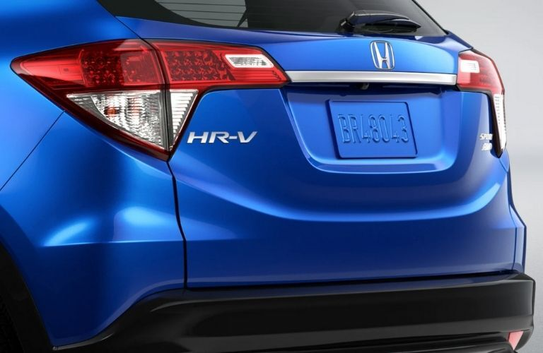 Rear end view of the 2022 Honda HR-V