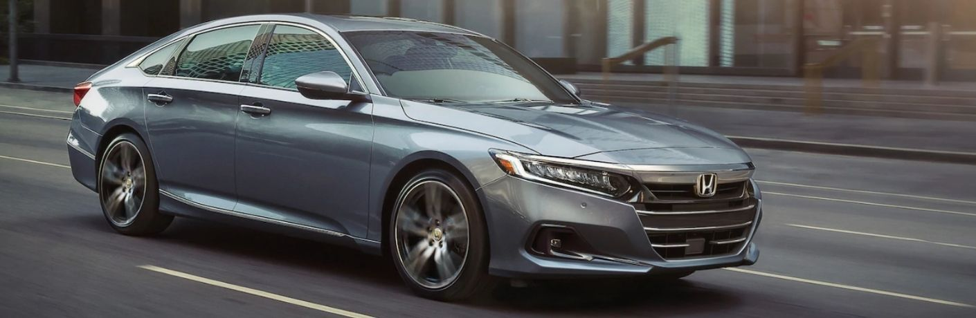 View of the 2022 Honda Accord Hybrid on road