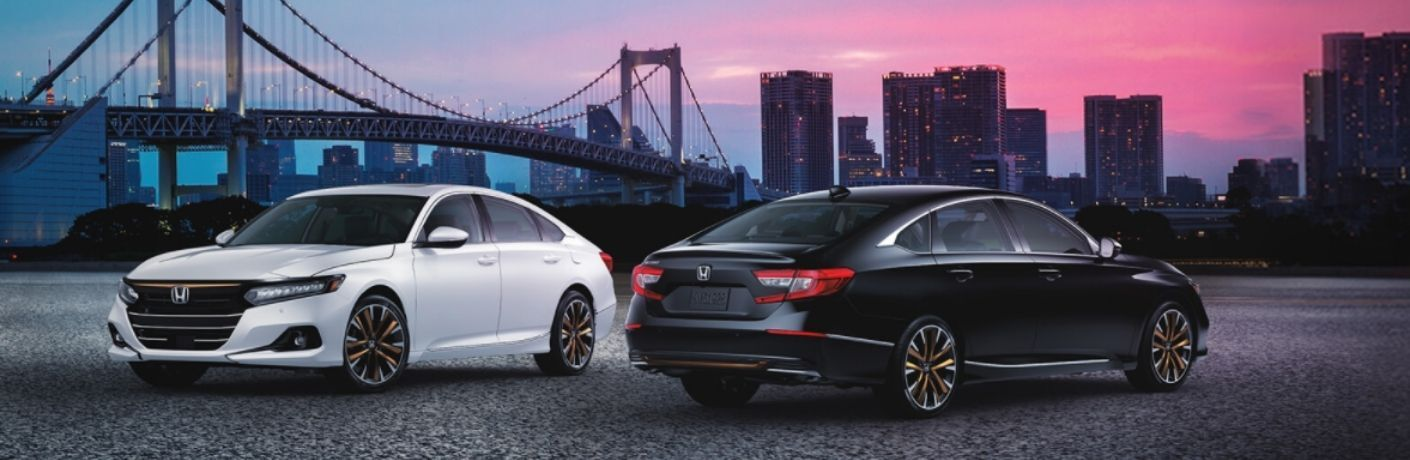 View of the 2022 Honda Accord parked front to end before a bridge