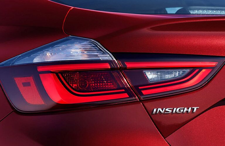 View of the rear side headlight of the 2021 Honda Insight