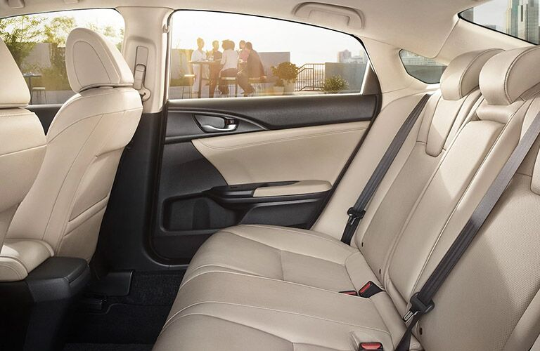 View of the interior seats of the 2021 Honda Insight