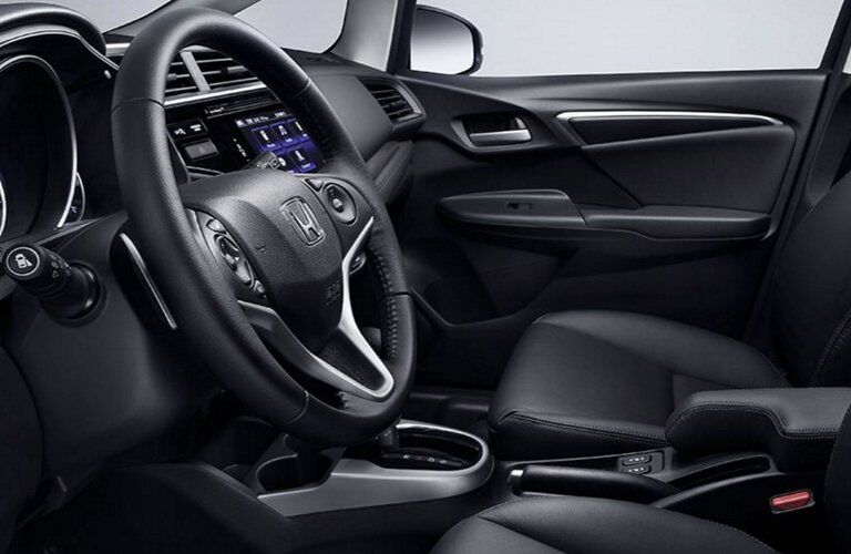 2017 Honda Fit front seats with steering wheel