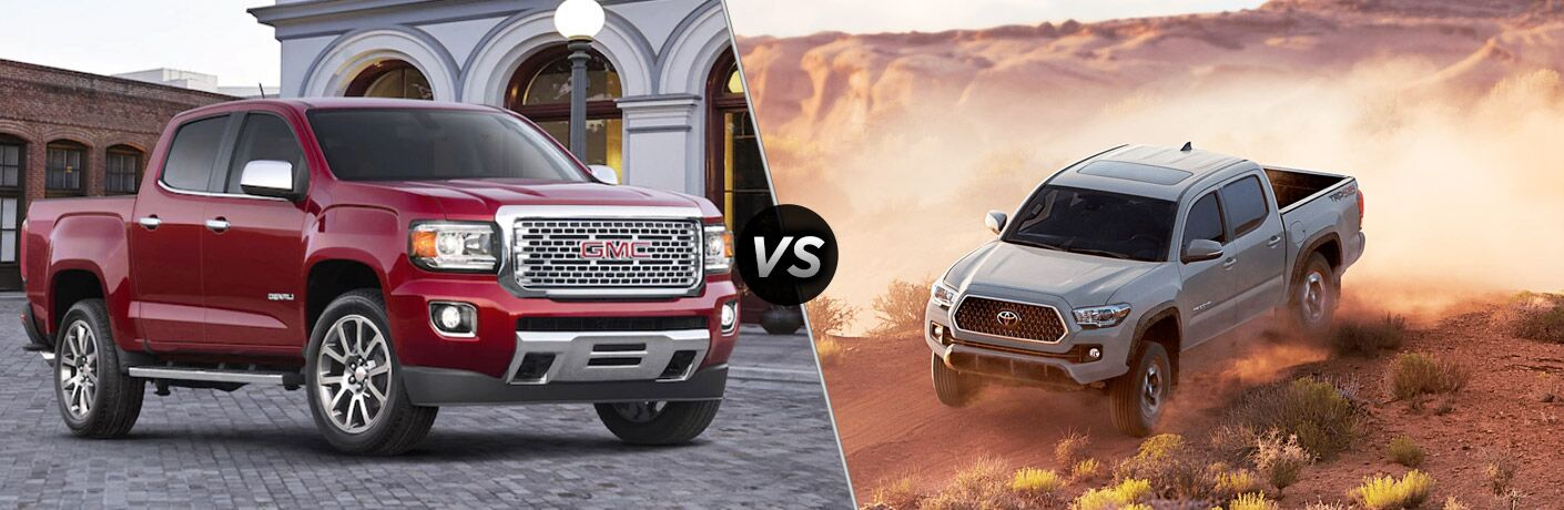 A side-by-side comparison of the 2018 GMC Canyon vs. 2018 Toyota Tacoma.