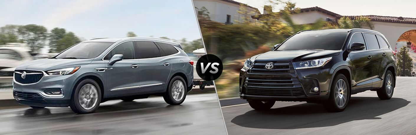 Another side-by-side comparison of the 2018 Buick Enclave vs. 2018 Toyota Highlander.